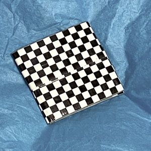 NWOT black/White Checkerboard Duct Tape Wallet